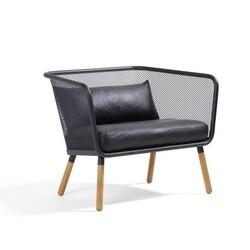 60pcs PACK, industrie Chic Draad Mesh Lounge Stoel/Ijzer Gemaakt met Roestvrij Schilderen/Eco Lederen Kussens Inbegrepen
