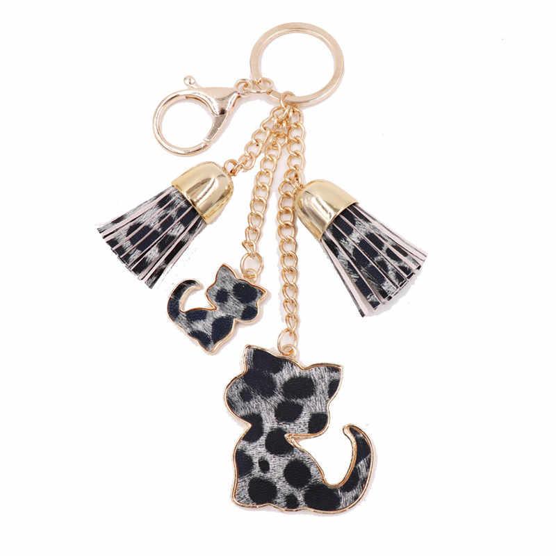 Sitaicery Sexy chat porte-clés gland serpent en cuir porte-clés cadeaux pour les femmes Llavero Chaveros breloques voiture sac accessoires porte-clés