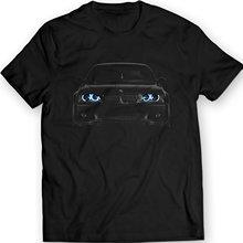 2019 New Cool Tee Shirt Germany Car  E46 T-Shirt Blue Angel Eyes Headlights Black T Fashion Cotton T-shirt