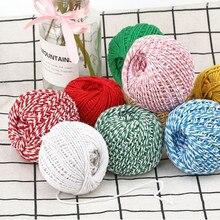 Хлопчатобумажная веревка для самостоятельного вязания, два цвета, тканевый шпагат для пекаря, деревенский кантри, ручной работы, аксессуары для шитья одежды