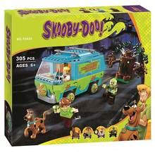 10430 10428 scooby o mistério blocos de construção tijolos doo brinquedos para crianças presentes natal crianças modelo máquina boneca
