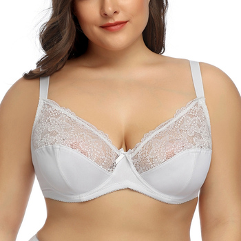 New Ladies Sexy Bras For Women Lace Bralette Underwire Plus Size B C D E 38 40 42 44 46 48 50 52 54 Big Breast BH