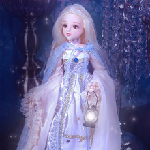 1/6 BJD Doll MMgirl Tarot Series By Name is The Hermit With Outfit Elegant Dress Shoes Hat Makeup 30cm fashion doll girl Gift(China)