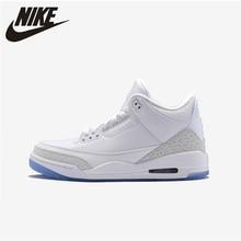 Nike Air Jordan 3 AJ3 white mens basketball shoes Original Comfortable Outdoor Sports Sneakers New Arrival  # 854273/136064 цена в Москве и Питере