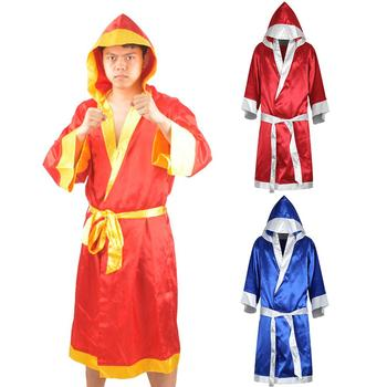 Men Boxing Robe MMA Boxing Match Muay Thai Men Hooded Long Sleeve Cloak Robe Uniform Costume wesing boxing robe soft boxing cloak kick men women boxing dry robe clothing boxing uniforms bata boxeo robe