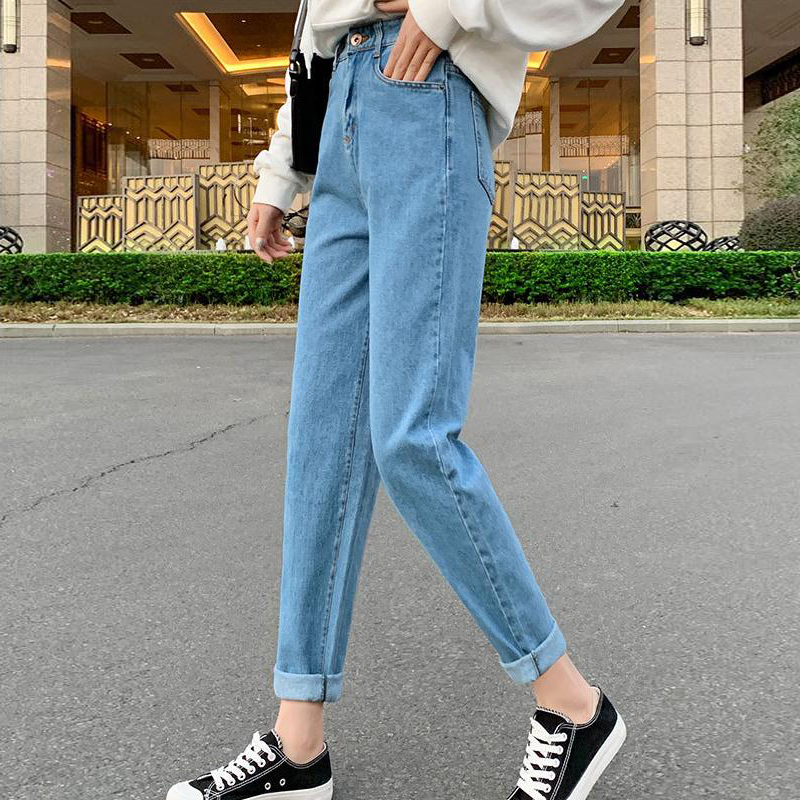 Jeans for Women Mom Cargo Pants High Waist Ripped Black Streetwear Straight Leg Pantalon Vintage Fashionnova Woman Cotton
