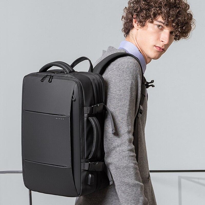 Bange mode homme sac à dos étanche 15.6 pouces ordinateur portable USB Recharge sac à dos multi-couche haute capacité voyage homme sac à dos - 5