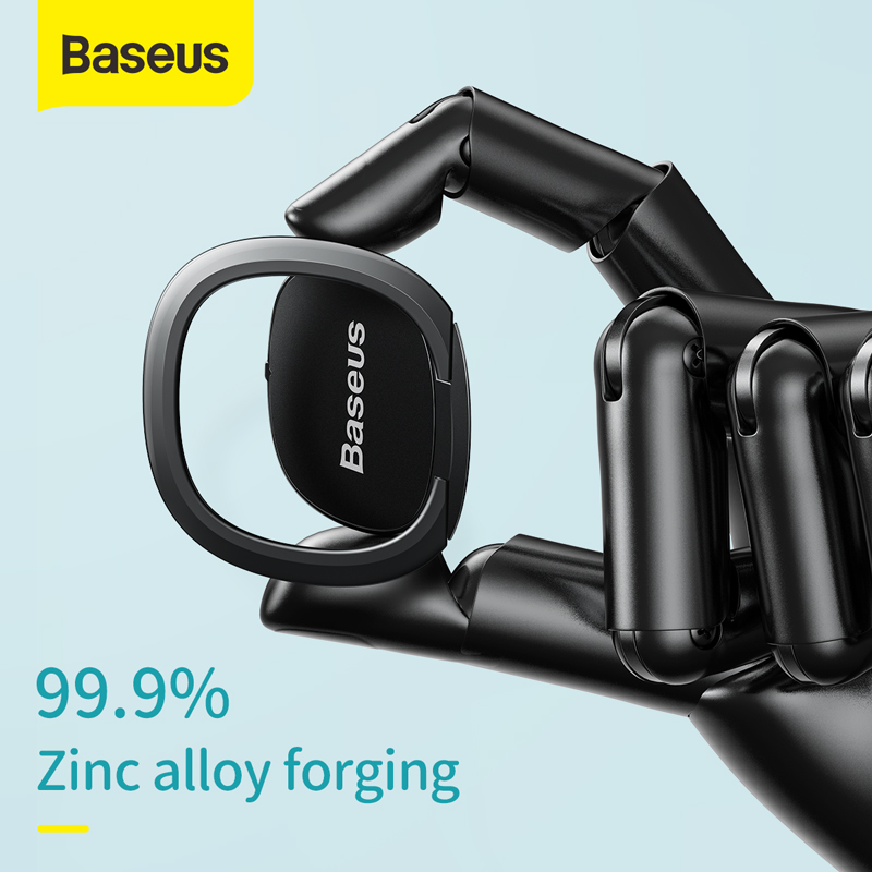 Baseus Finger Ring Holder For IPhone 11 Pro Max 360 Degree Rotation Phone Stand Mount Portable Ring Holder Tablet Mobile Phone