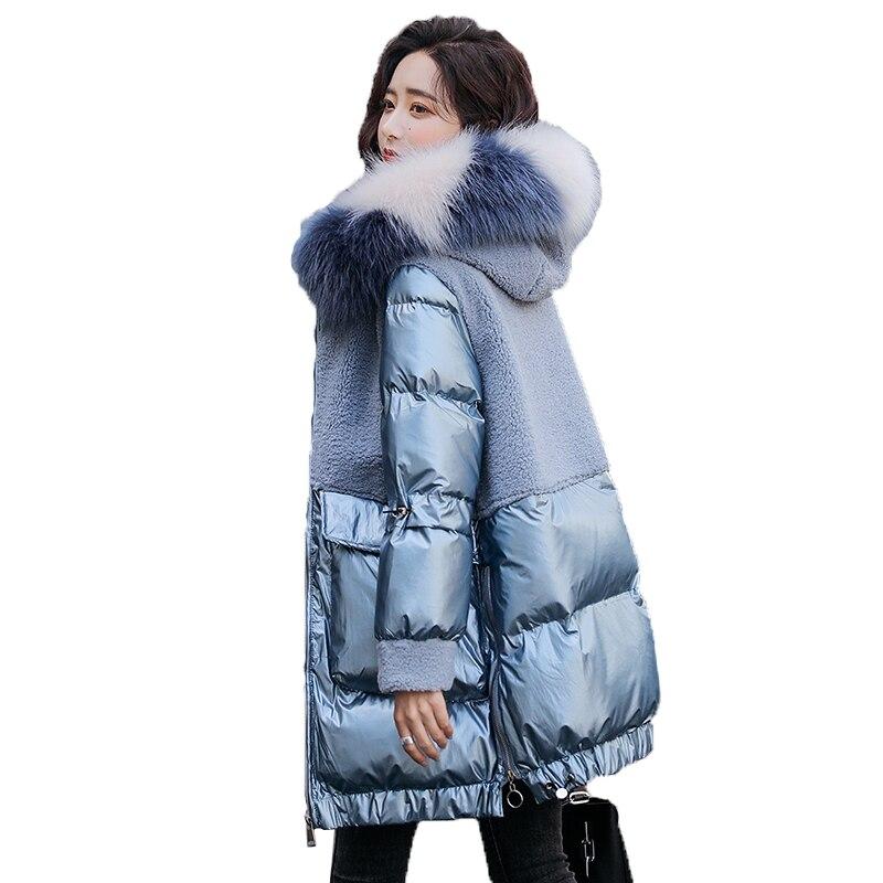Зимняя куртка парка с большим меховым воротником, женская утепленная пуховая куртка, длинное зимнее пальто размера плюс, женское пуховое пальто с подкладкой|Парки|   | АлиЭкспресс
