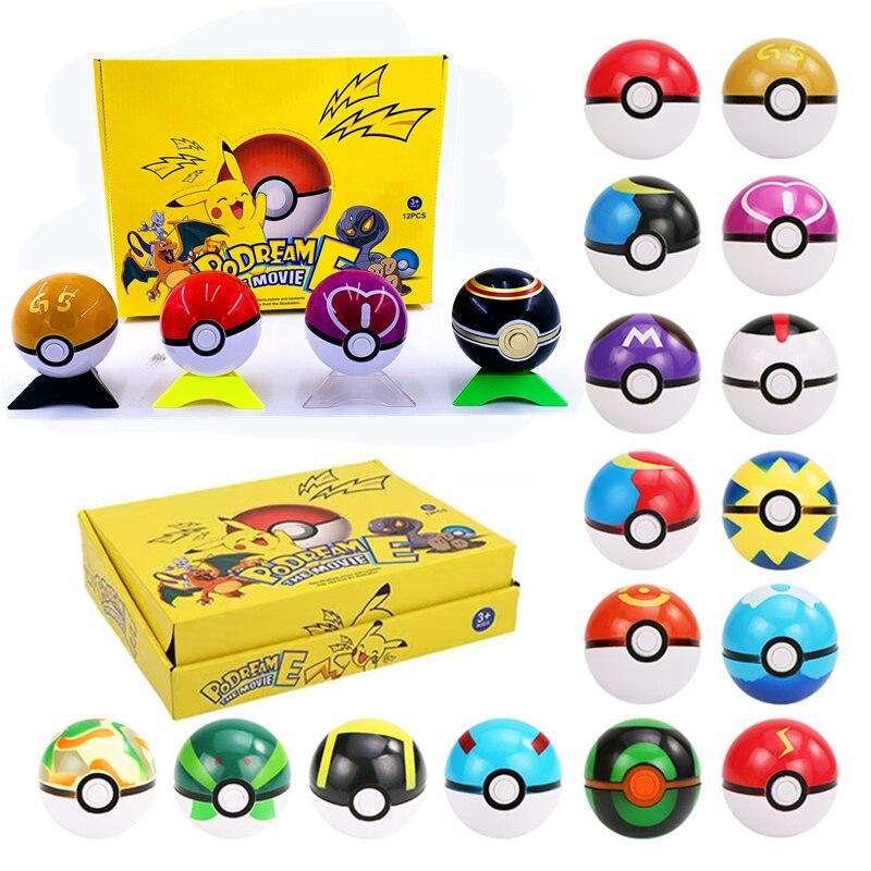 Смешные Веселые экшн-шары с карманными монстрами внутри 7 см мяч-эльф игрушки для детей фигурка Покемон Пикачу игрушки-шары