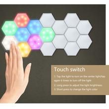 Kolorowe diody LED o strukturze plastra miodu moduł światła o strukturze plastra miodu pilot LED Quantum światła DIY RGB sześciokątne połączenie ściany lampy tanie tanio ABEDOE CN (pochodzenie) Jadalnia Łóżko pokój Foyer Other 4 5V Dotykowy włącznik wyłącznik MULTI Shadeless honeycomb lamp