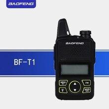 2 Pcs Baofeng Bf t1 Walkie Talkie Mini per Bambini Radio Uhf Portatile a Due Vie Radio Ham Radio Cb Usb Caricabatterie Unico pulsante di Allarme