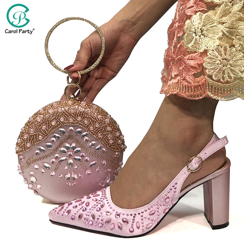 2020 Lastest Shoes and Bag To Match Italian design Matching Shoe and Bag Set African Wedding Shoes and Bag To Match for Parties