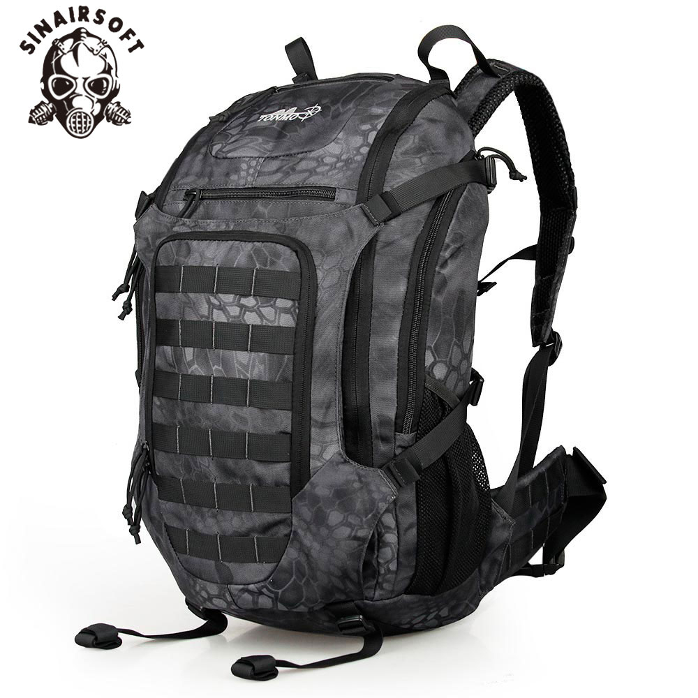 <font><b>35L</b></font> 1000D Tactical Waterproof <font><b>Backpack</b></font> Outdoor Sport Military Climbing Bag Camping Hiking Trekking Rucksack Travel Outdoor Bag image