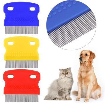 1pc grzebień dla psa usuń pchła szczotka do włosów grzebień do włosów Puppy Cat grzebień szczotka dla psa wielofunkcyjna pielęgnacja zwierząt domowych ze stali nierdzewnej tanie i dobre opinie CN (pochodzenie)