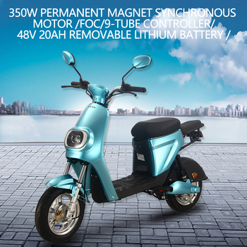 25km/h 48V 20AH 350W Electrical Motorcycle Scooter Electric Motor Motorcycle Adults Men Women Electric Bicycle Bike Vehicle 2
