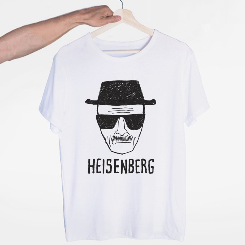 Heisenberg Breaking Bad T-shirt O-Neck Short Sleeves Summer Casual Fashion Unisex Men And Women Tshirt