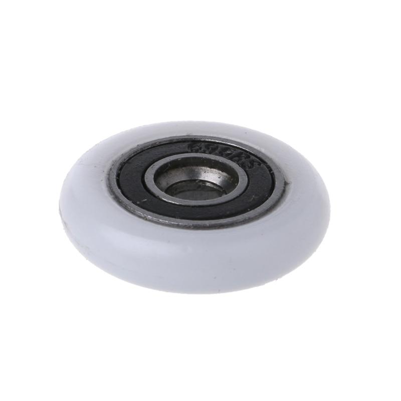 8 Pcs Shower Door Runner Rollers Wheels Pulleys Replacement Parts 23mm Diameter Y98E