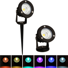LED COB Lawn Lamp LED Spike Light Outdoor Pathway Garden Yard Landscape Lighting Waterproof 5W 7W 9W RGB Spot Bulbs 85-265V 12V