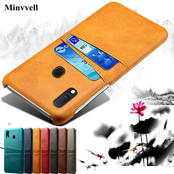 Case For Samsung Galaxy A20E A80 A70 A60 A50 A10 A20 A30 A40 Card Slots Cover PU Leather+PC Back Cases For Samsung M10 M20 M30 protective pu leather case w card holder slots for samsung galaxy note 3 n9000 black