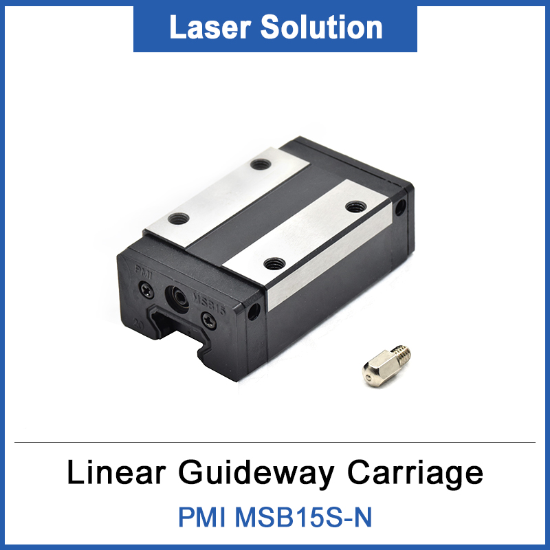 Original Taiwan PMI Linear Guideway Carriage Block MSB15S-N For CO2 Laser Engraving Cutting Machine