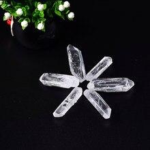 Natural moda cristal claro cristais crus varinha de cristal quartzo cura pedra ponto de cristal rocha mineral espécime energia pedra
