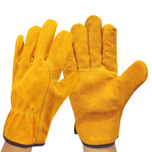 New Cow Leather Welder Gloves Anti Heat Fireproof Work Safety Gloves For Welding Carrying Builder Hands Protection