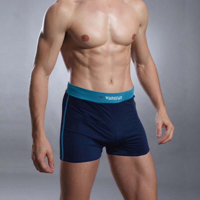 Fei Yue Flygd Men AussieBum Pocketless Swimming Trunks Men's Swimming Trunks High Waist-Style Swimming Trunks 32050