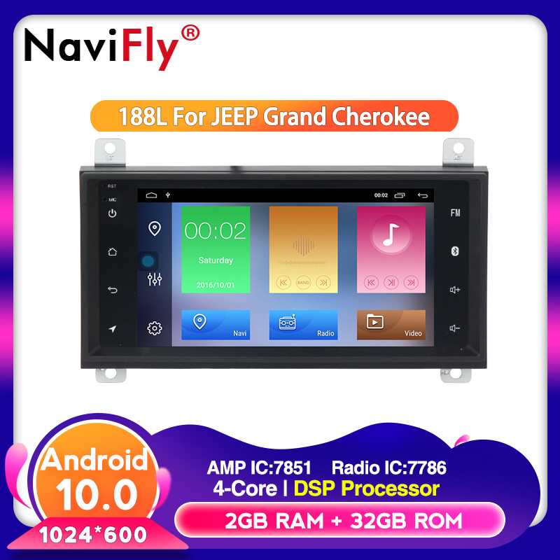 Android 10 Quad-core DSP Car Multimedia Player For Chrysler/Dodge Jeep Grand Cherokee Autoradio Wifi
