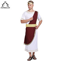 TOPMELON Halloween Costume Caesar the Great Cosplay Sets Halloween Costumes For Men Holiday Cosplay Male Jumpsuit&Belt&Headwear