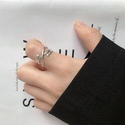 925 srebro pierścionki dla kobiet wielowarstwowe pierścienie uzwojenia srebrne osobowości otwarte pierścienie dla kobiet 2019 nowa kreatywna biżuteria