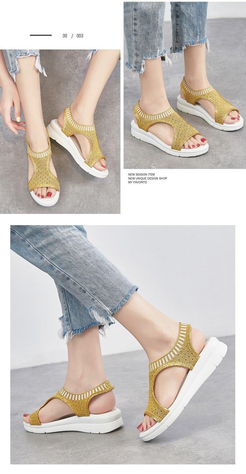 H2e76a4ed97d54a4fb92d17e6a64f001cS WDZKN 2019 Sandals Women Summer Shoes Peep Toe Casual Flat Sandals Ladies Breathable Air Mesh Women Platform Sandals Sandalias