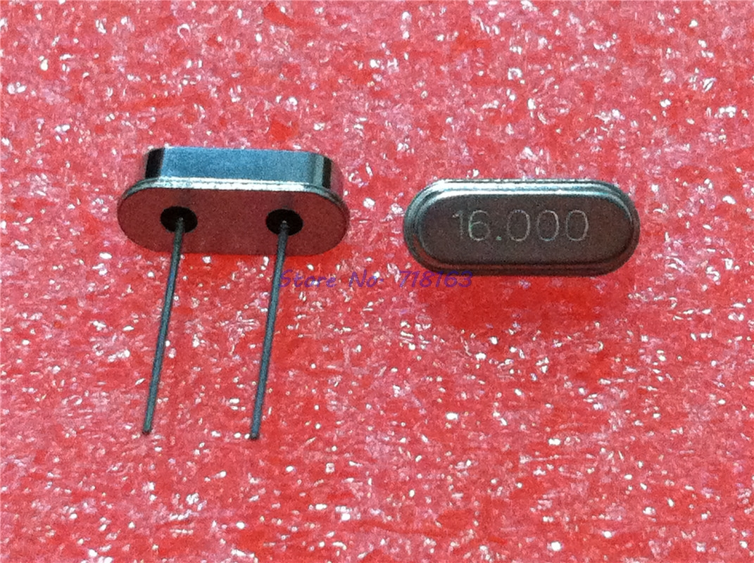 10pcs/lot Hc-49s 16MHz Oscillator Quartz Resonator HC49S 49S 16M 16.000mhz DIP-2 Crystal In Stock