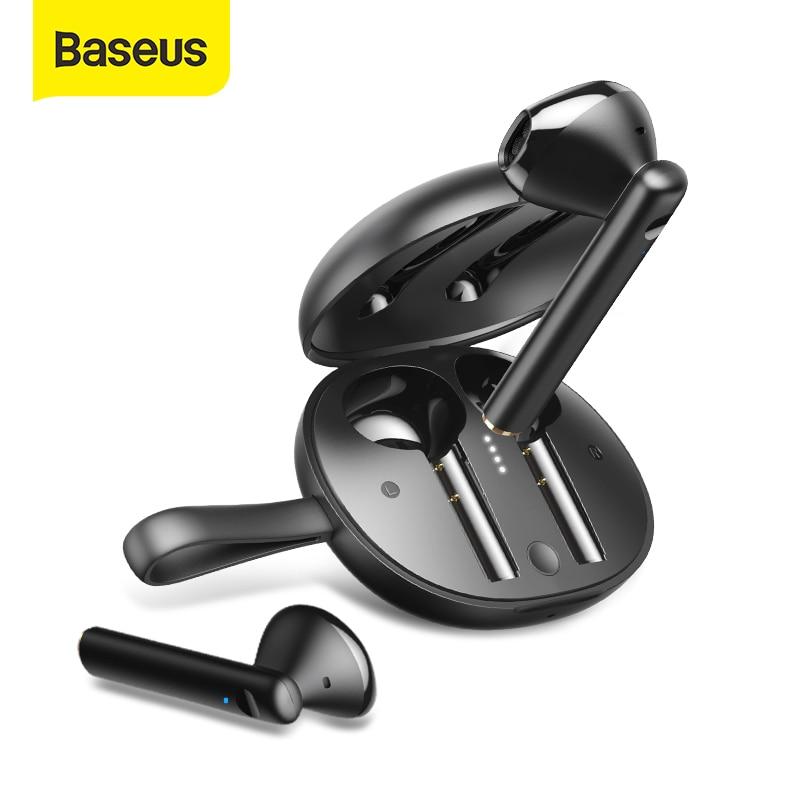 Baseus W05 Tws Bluetooth Hoofdtelefoon Draadloze 5.0 Oortelefoon IP55 Waterdichte Hd Stereo Oordopjes Ondersteuning Qi Draadloos Opladen