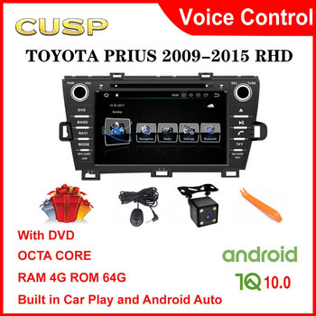 CUSP Android 10.0 Car dvd player for TOYOTA PRIUS 2009 2010-2015 2 Din Car Radio car gps car stereo Multimedia Audio RHD CarPlay image