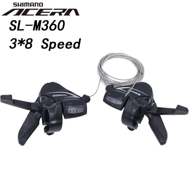 Shimano Acera SL M360 3x8 מהירות הרי אופני מסיטים L3 x R8 24 מהירות 24 S MTB אופניים טריגר שיפטר מנוף סט m360