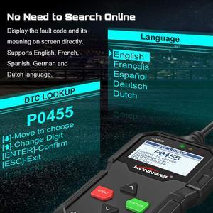 Image 2 - OBD2 Automotive Scanner KW590 OBDII Code Reader Auto Diagnose Werkzeug Schalten Motor Licht Freies Update Auto Code Reader PK ELM327