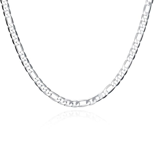 925 Silver Necklace Three Rooms One Ferrero Necklace Silver Chain Men&Women Silver Necklace Fashion Classic Jewelry 4MM 6