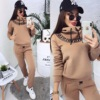 Women's Sets Autumn Hooded Sweatshirt and Pants Set Pullover Two Piece Outfits for Women's Tracksuit