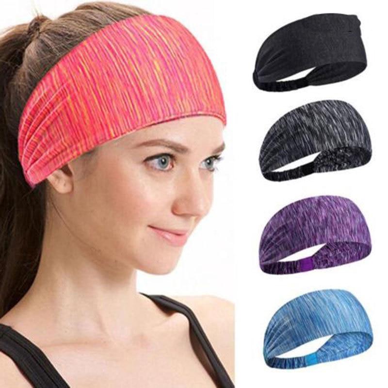 Elastic Headbands for Women Girls Sport Running Yoga Head Band Cotton Wide Hair Hoop Band Head Warp Hoops Hair Turban