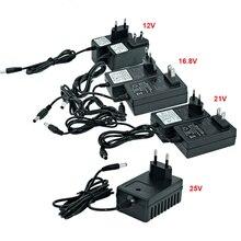 12V 16.8v 21v 25V batterie au Lithium perceuse électrique tournevis électrique chargeur de batterie ue/US Plug tournevis chargeur