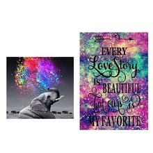 Elephant 5D Full Drill Diamond Painting Embroidery Cross Stitch Kits DIY Rhinestone Crystal Home Decoration Craft reflection 5d full drill diamond painting embroidery cross stitch kit rhinestone home decor craft