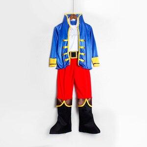 Image 3 - 해적 의상 어린이 날 어린이 소년 해적 할로윈 코스프레 세트 생일 파티 망토 복장 해적 크리스마스 테마