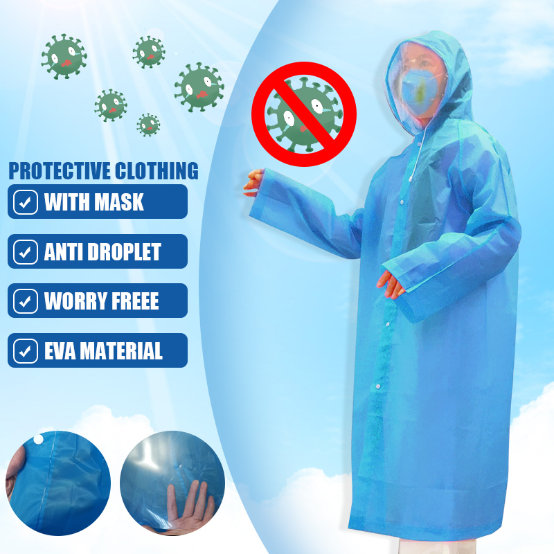 Disposable Waterproof Oil-Resistant Protective Coverall With Mask For Spary Painting Decorating Clothes Overall Suit Workwear