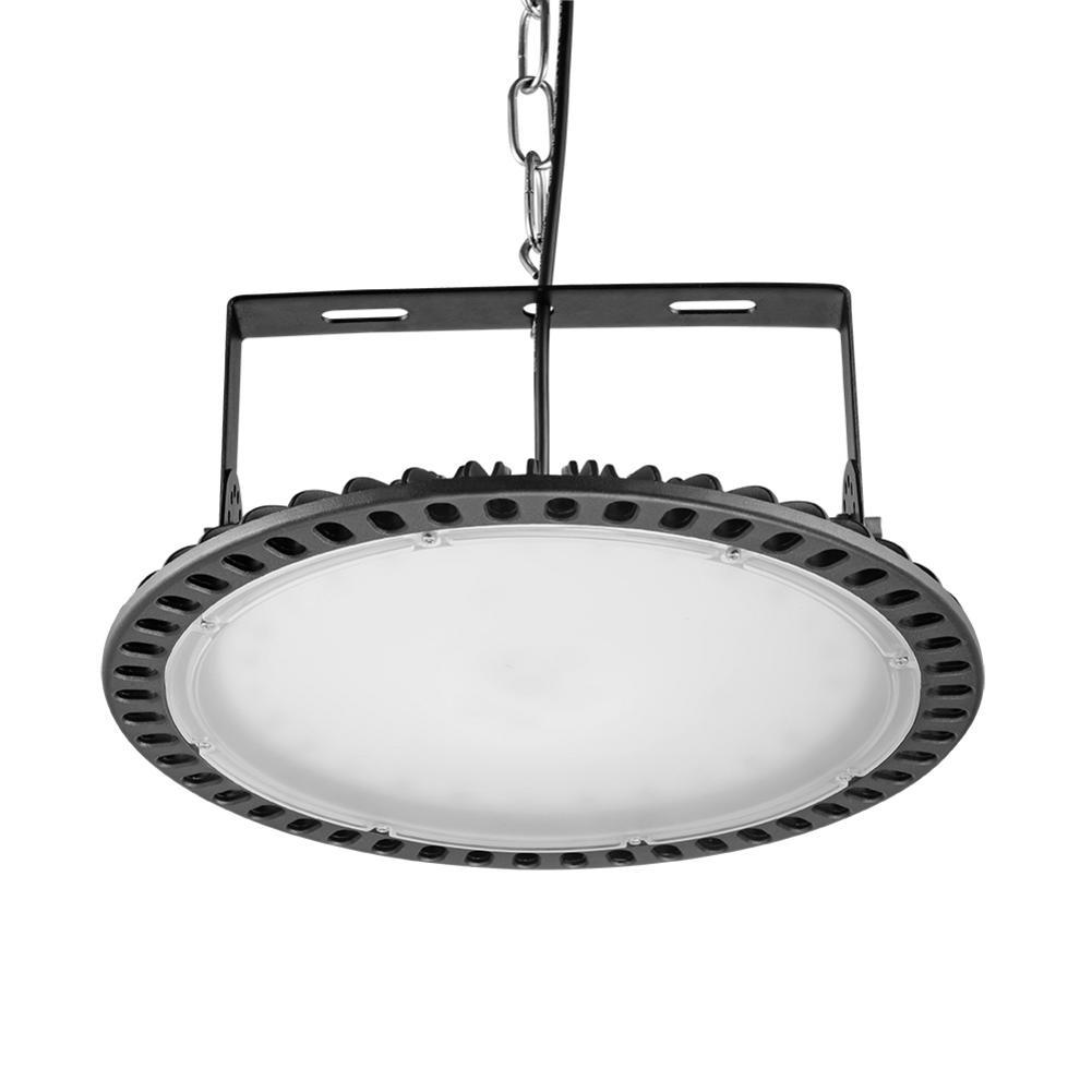 2pcs 200W Ultrathin UFO LED High Bay Lights Industry Light Hall Lamp 220V Mining Ceiling Lights Industrial Lighting