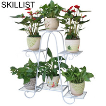 Varanda Planten Rek Decoration Terrasse Rack Metal Raflar Balcony Balcon Flower Balkon Plant Shelf