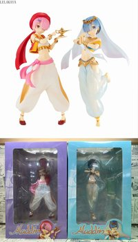 Re: Life In a Different World From Zero Aladdin Rem Ram in Arabian Night Cheongsam With Fan Ver Sexy Girl PVC Action Figure Toy image