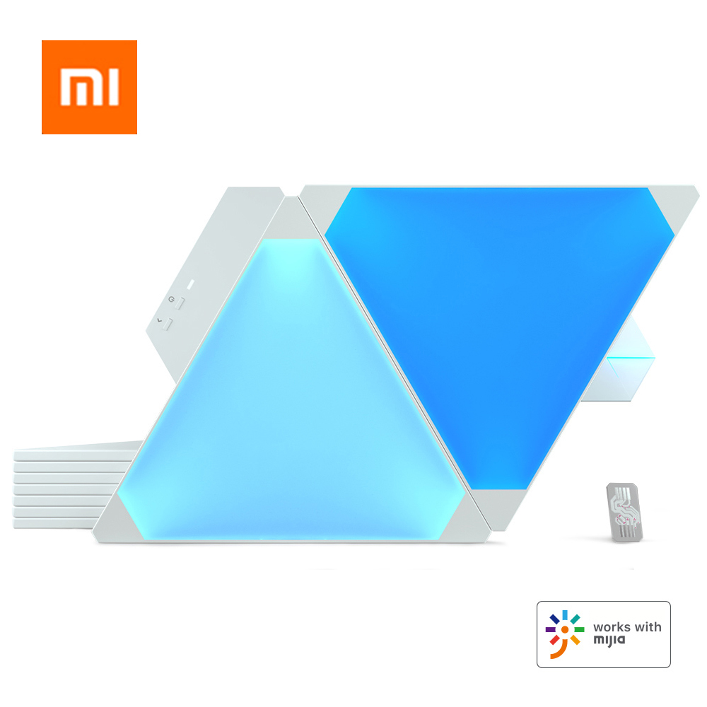 2019 Original Nanoleaf Canvas Full Color Smart Kit Light Board Rhythm Edition For Xiaomi Mijia Apple Homekit Google Home