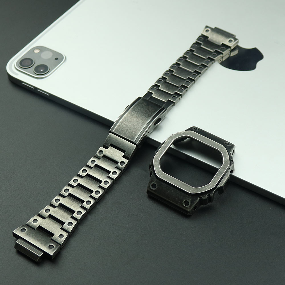 316L Stainless Steel Watch Strap For Casio <font><b>G</b></font>-<font><b>shock</b></font> <font><b>DW</b></font>-<font><b>5600</b></font> GW-<font><b>5600</b></font> DW5000/5035 Watch Bezel For Casio GW-M5610 Watch Accessories image