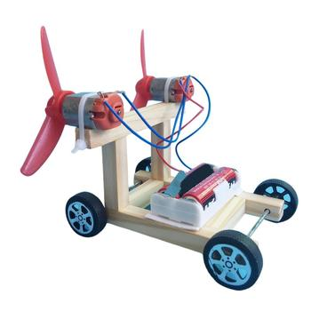 Kids DIY Assembly Electric Racing Car Model Teaching Aid Science Experiment Toy недорого